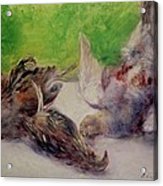Still Life With Pheasants  Acrylic Print by Pierre Auguste Renoir