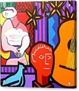 Still Life With Picasso's Dream Acrylic Print by John  Nolan