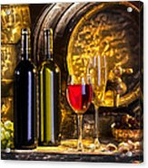 Still Life With Two Barrels.  Acrylic Print by Tautvydas Davainis