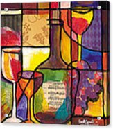 Still Life With Wine And Fruit Acrylic Print by Everett Spruill
