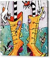 Stivali Acqua Alta - Children Book Illustration - Venezia Acrylic Print by Arte Venezia