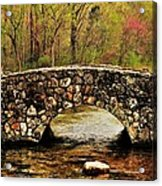 Stone Bridge In The Ozarks Acrylic Print by Benjamin Yeager