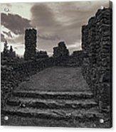 Stone Ruins At Old Liberty Park - Spokane Washington Acrylic Print by Daniel Hagerman