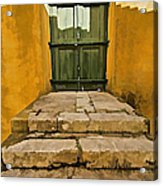 Stone Stair Entranceway  Acrylic Print by David Letts