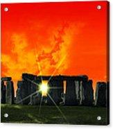 Stonehenge Solstice Acrylic Print by Daniel Hagerman