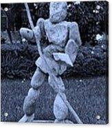 Stoneman In Cyan Acrylic Print by Rob Hans