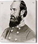 Stonewall Jackson Confederate General Portrait Acrylic Print by Anonymous