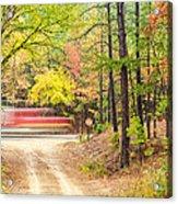 Stop - Beaver's Bend State Park - Highway 259 Broken Bow Oklahoma Acrylic Print by Silvio Ligutti
