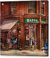 Store - Albany Ny -  The Bayou Acrylic Print by Mike Savad