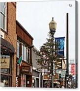 Storefront Shops In Truckee California 5d27490 Acrylic Print by Wingsdomain Art and Photography