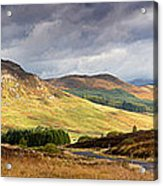 Storm Clouds Over The Glen Acrylic Print by Jane Rix