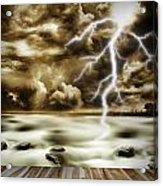 Storm Acrylic Print by Les Cunliffe