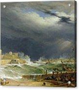 Storm Malta Acrylic Print by John or Giovanni Schranz