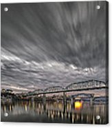 Storm Moving In Over Chattanooga Acrylic Print by Steven Llorca
