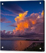 Storm On Tampa Acrylic Print by Marvin Spates