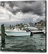 Storm Over Banks Channel Acrylic Print by Phil Mancuso