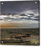 Storm Over Emmett Valley Acrylic Print by Robert Bales