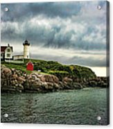 Storm Rolling In Acrylic Print by Heather Applegate