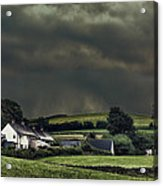 Stormy Hamlet Acrylic Print by Amanda And Christopher Elwell