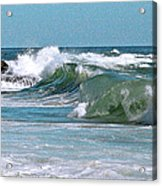 Stormy Lagune - Blue Seascape Acrylic Print by Ben and Raisa Gertsberg