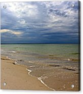 Stormy Mayflower Beach Acrylic Print by Amazing Jules