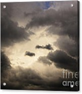 Stormy Sky With A Bit Of Blue Acrylic Print by Thomas R Fletcher