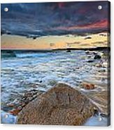 Stormy Sunset Seascape Acrylic Print by Katherine Gendreau