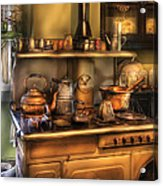 Stove - What's For Dinner Acrylic Print by Mike Savad