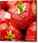 Strawberry Mosaic Acrylic Print by Anne Gilbert