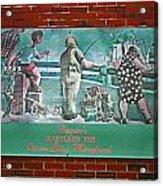 Street Ad Acrylic Print by Skip Willits