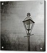 Street Lamp On The River Acrylic Print by Brenda Bryant