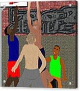 Streetball Shirts And Skins Hoopz 4 Life Acrylic Print by Pharris Art