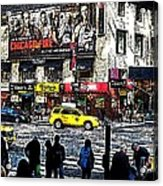 Streets Of Manhattan 20 Acrylic Print by Mario Perez