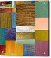 Strips And Pieces Lv Acrylic Print by Michelle Calkins