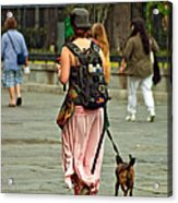 Strolling In Jackson Square Acrylic Print by Steve Harrington