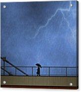 Strolling In The Rain Acrylic Print by Juli Scalzi