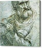 Study For An Apostle From The Last Supper Acrylic Print by Leonardo da Vinci