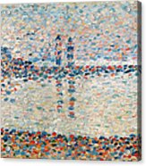 Study For The Channel At Gravelines Evening Acrylic Print by Georges Pierre Seurat