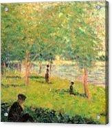 Study On La Grande Jatte Acrylic Print by Georges Seurat