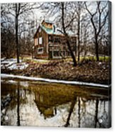 Sugar Shack In Deep River County Park Acrylic Print by Paul Velgos