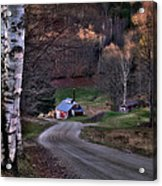 Sugar Shack - Reading Vermont Acrylic Print by Thomas Schoeller