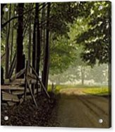 Sugarbush Road Acrylic Print by Michael Swanson