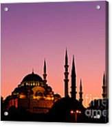 Suleymaniye Sundown 02 Acrylic Print by Rick Piper Photography