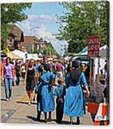 Summer Festival In Berne Indiana Acrylic Print by Suzanne Gaff