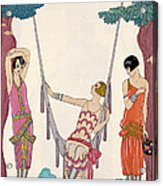 Summer Acrylic Print by Georges Barbier
