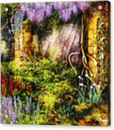 Summer - I Found The Lost Temple  Acrylic Print by Mike Savad