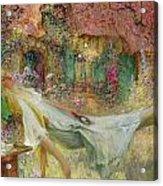 Summer In The Garden Acrylic Print by Darien Henri-Gaston