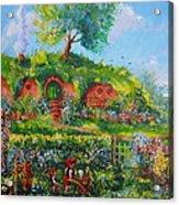 Summer In The Shire Acrylic Print by Joe  Gilronan