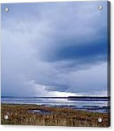 Summer Storm Over The Lake Acrylic Print by Skip Nall