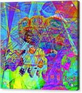 Summertime At Santa Cruz Beach Boardwalk 5d23905 Acrylic Print by Wingsdomain Art and Photography